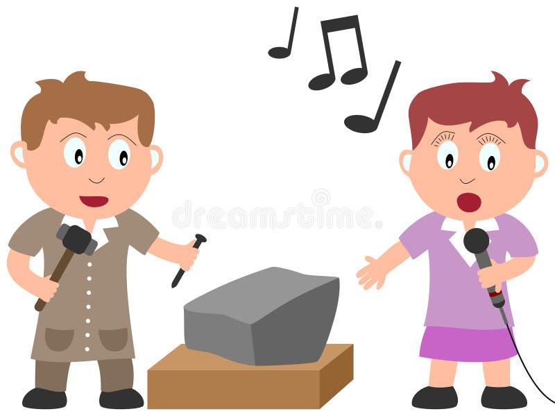 Bambini e job - arte [1] royalty illustrazione gratis