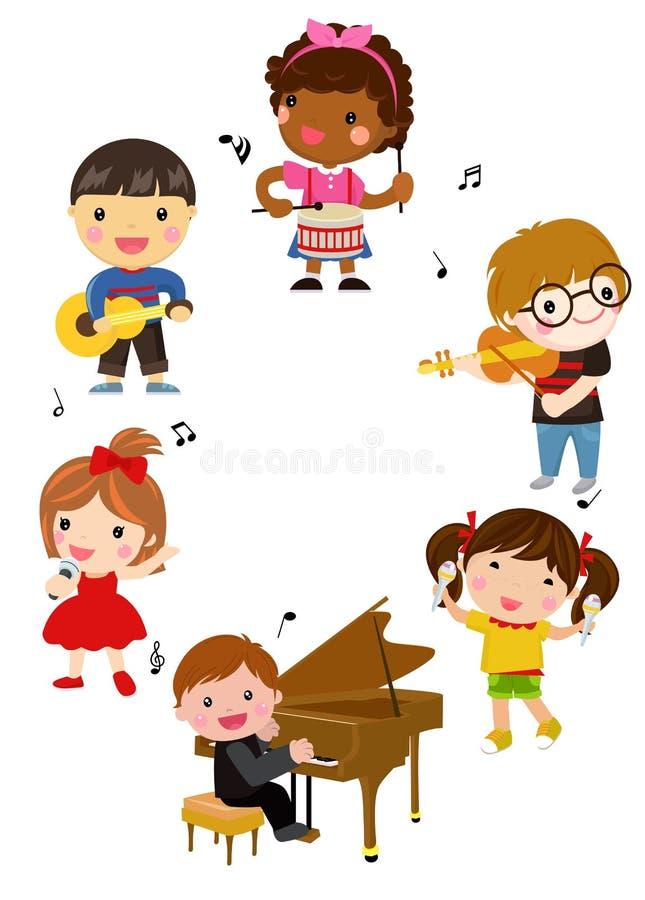 Bambini e musica illustrazione di stock