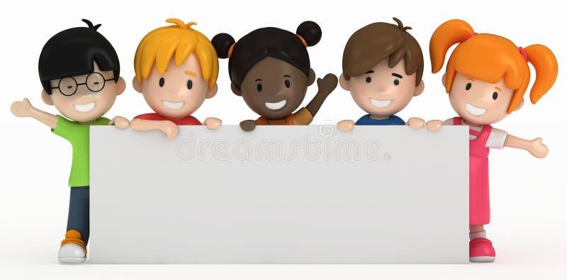 Bambini e scheda in bianco