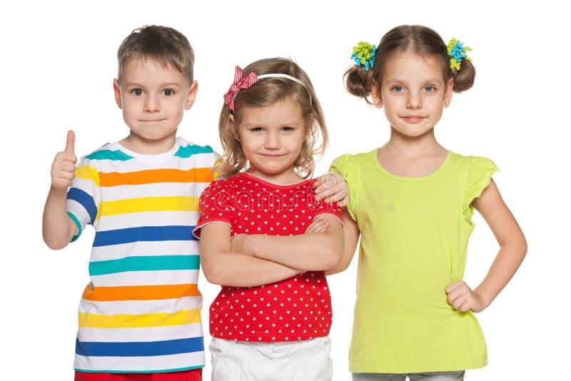 Bambini in età prescolare allegri immagine stock libera da diritti