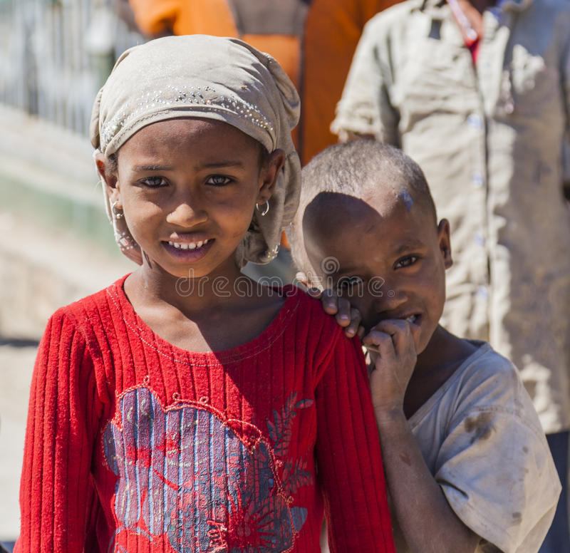 Bambini etiopici Hirna l'etiopia immagini stock libere da diritti