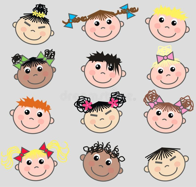 Bambini etnici Mixed royalty illustrazione gratis