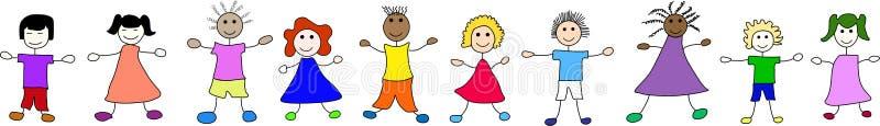 Bambini felici da universalmente illustrazione vettoriale