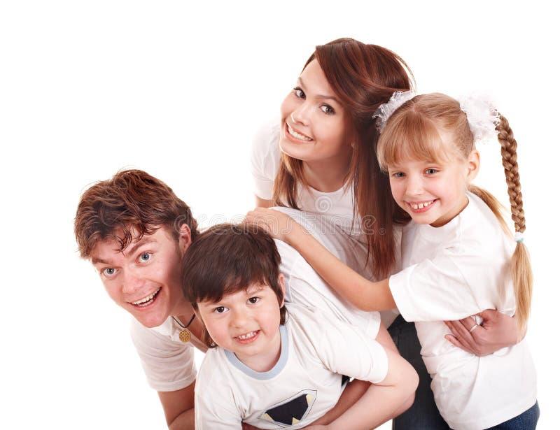 Bambini felici di educazione della famiglia. immagini stock