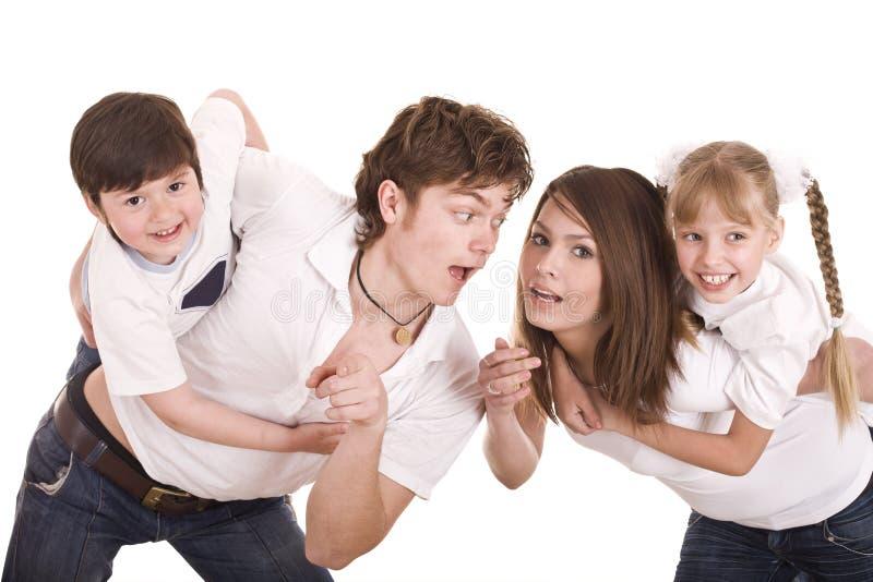 Bambini felici di educazione della famiglia. fotografie stock