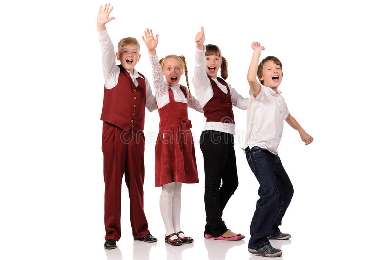 Bambini felici insieme fotografia stock