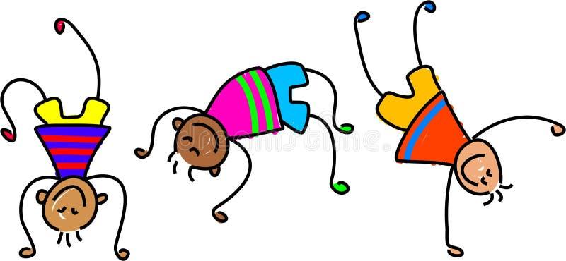 Bambini Funky royalty illustrazione gratis