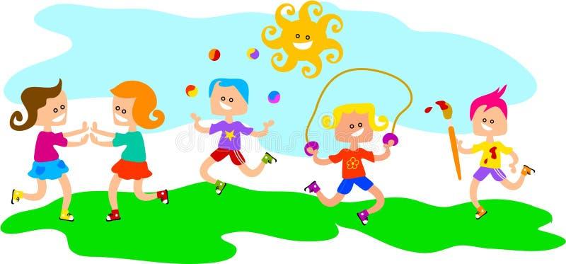 Bambini a gioco illustrazione vettoriale