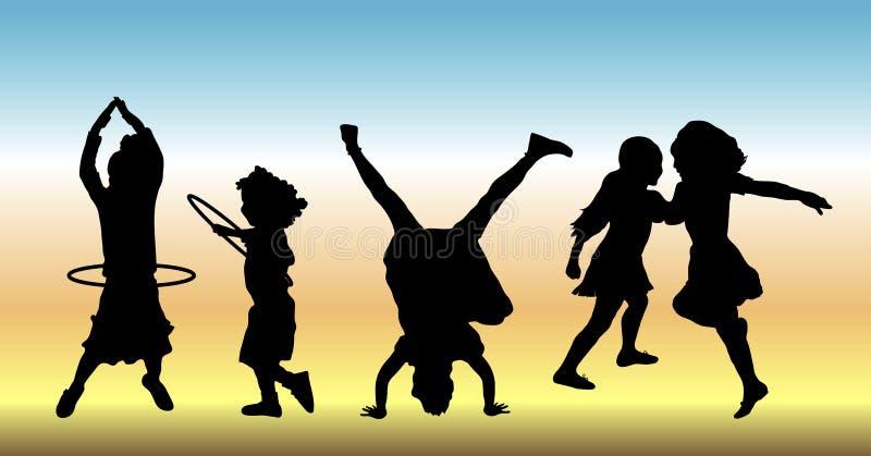 Bambini a gioco 2 fotografie stock libere da diritti