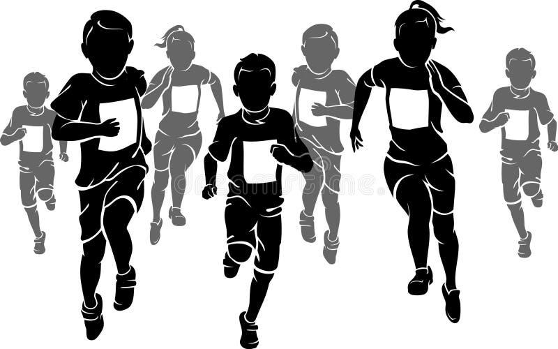 Bambini maratona royalty illustrazione gratis