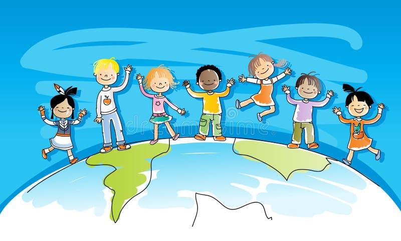 Bambini Multiracial royalty illustrazione gratis