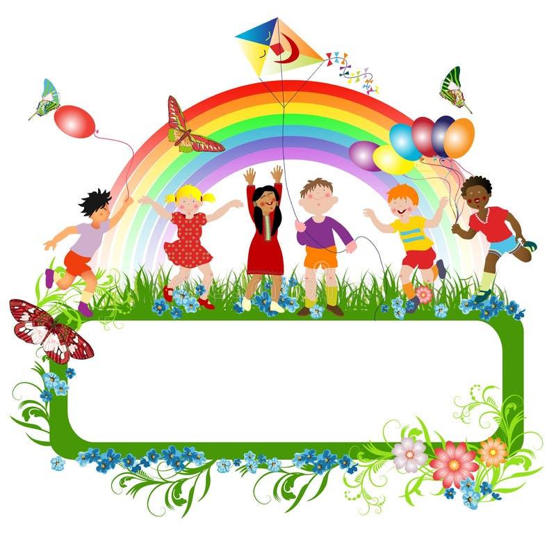 Bambini Multiracial illustrazione vettoriale