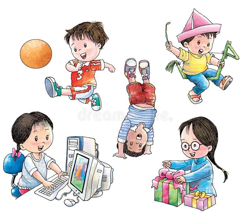 Download Bambini nel gioco illustrazione di stock. Illustrazione di sorriso - 7300250