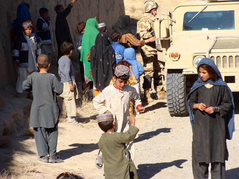 Bambini nell'Afghanistan fotografia stock