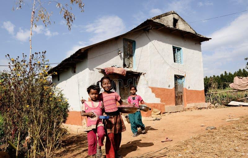 Bambini nepalesi fotografie stock libere da diritti