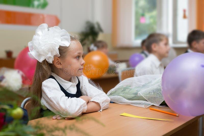 Bambini per la prima volta a scuola fotografie stock libere da diritti