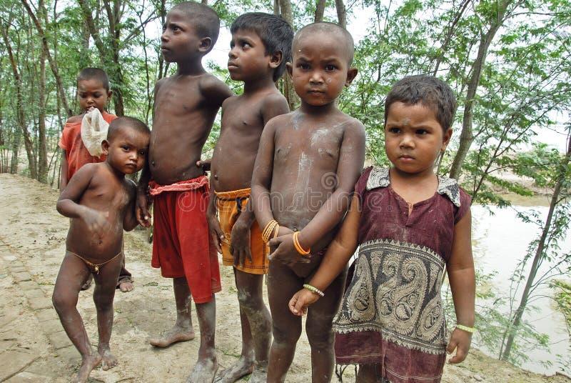 Bambini poveri in India immagini stock