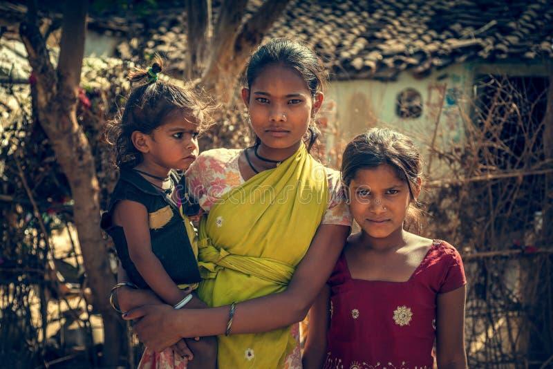 Bambini poveri indiani fotografia stock libera da diritti
