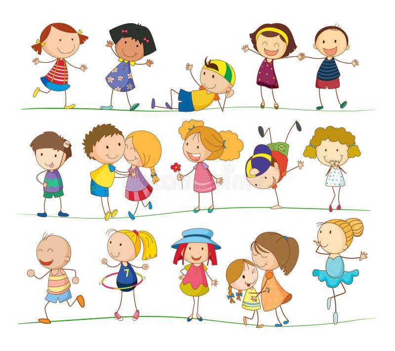 Bambini semplici illustrazione vettoriale