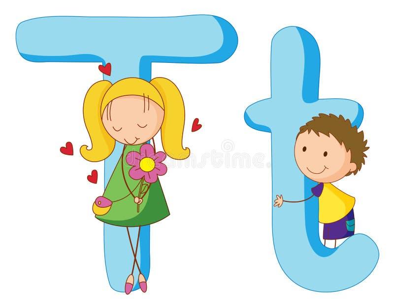 Bambini in serie delle lettere illustrazione vettoriale