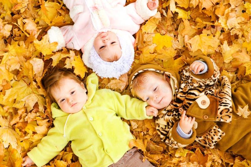Bambini sui fogli immagini stock