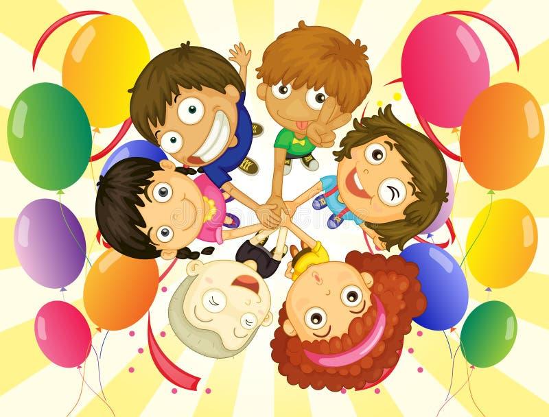 Bambini in un partito illustrazione vettoriale