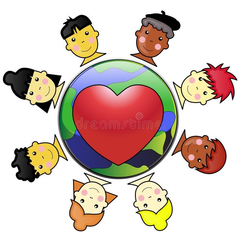 Bambini uniti illustrazione di stock