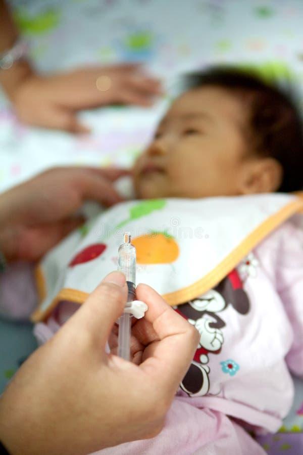 Bambini vaccinati immagine stock