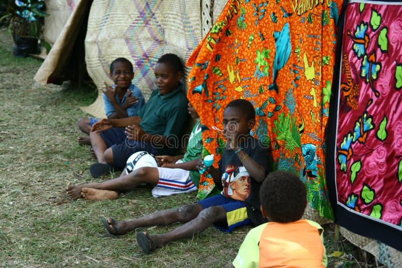 Bambini in Vanuatu immagine stock libera da diritti