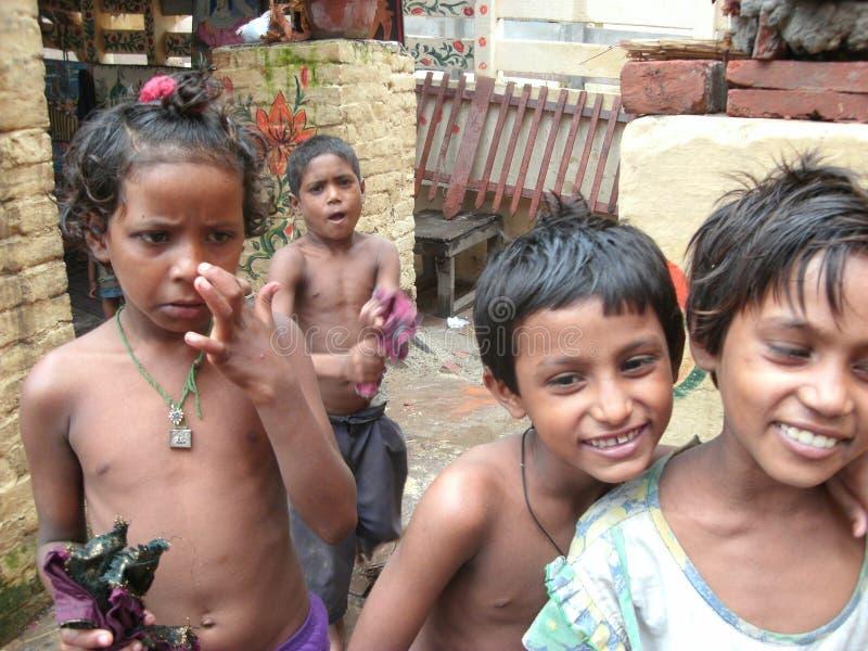 Bambini a Varanasi fotografia stock
