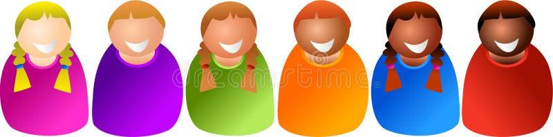 Bambini vari illustrazione vettoriale