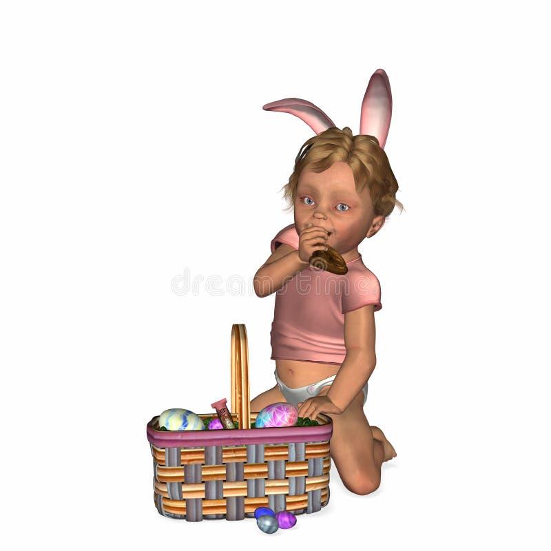 Bambino 1 di Pasqua illustrazione vettoriale