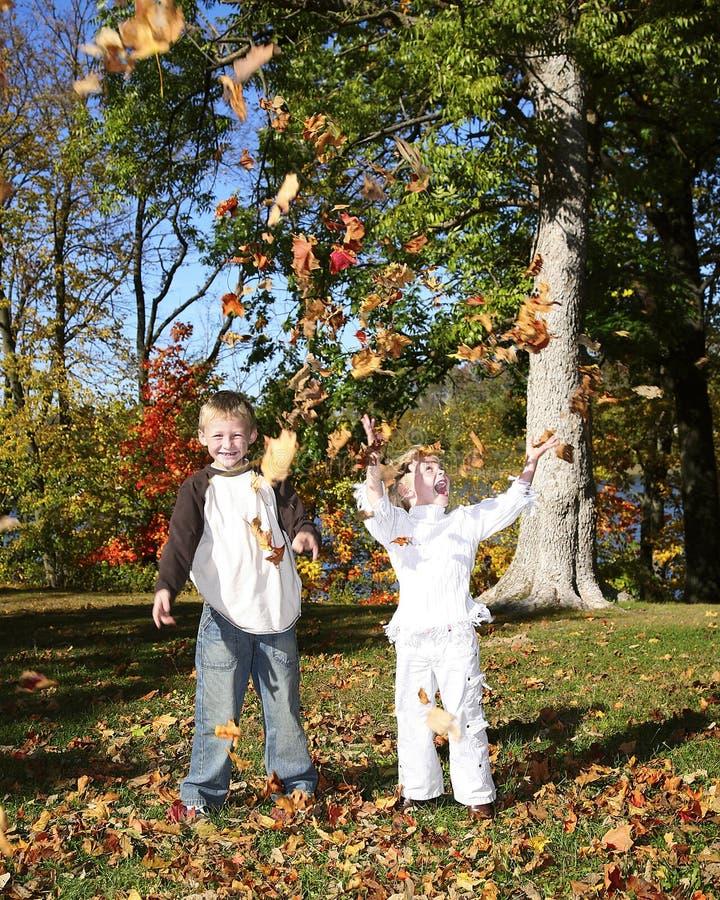 Bambino 12 di autunno fotografia stock