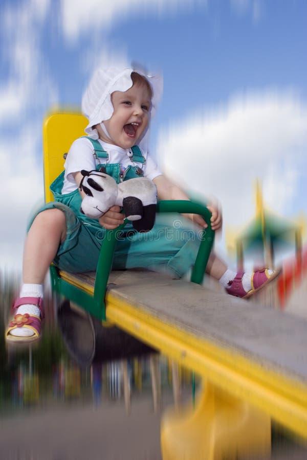 Bambino abbastanza felice fotografie stock