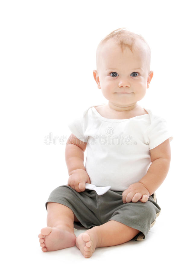 Bambino affamato fotografia stock