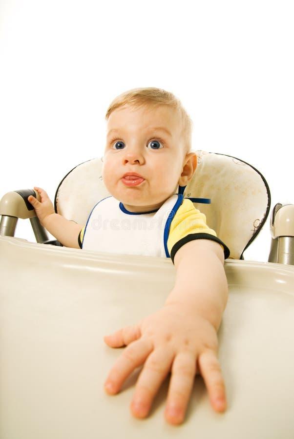 Bambino affamato fotografie stock libere da diritti