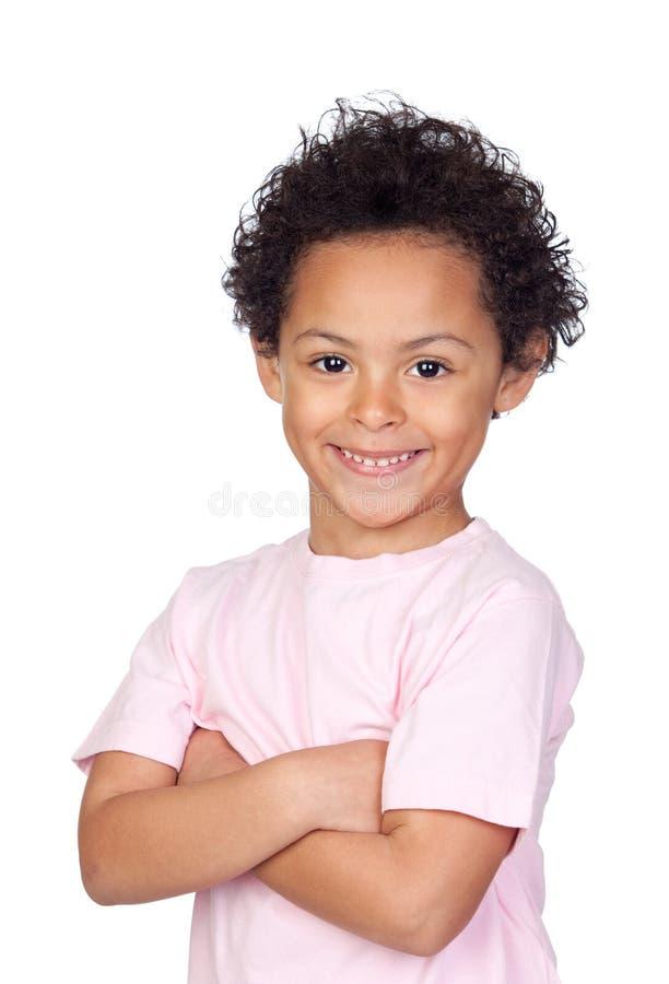 Bambino africano felice immagine stock