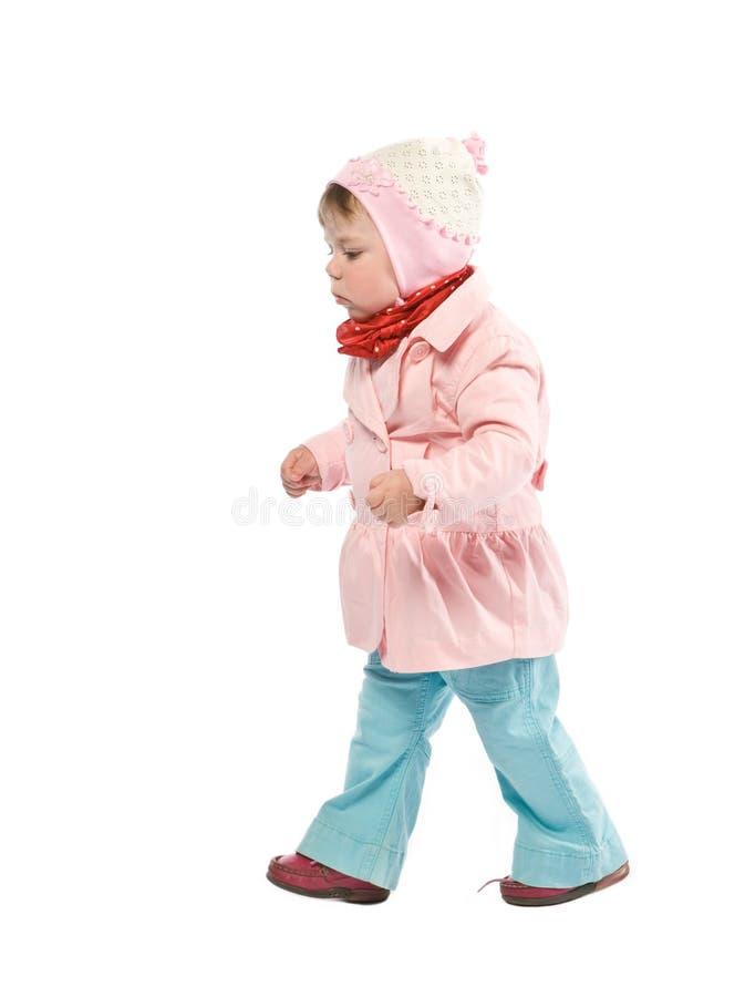 Bambino ambulante fotografia stock libera da diritti