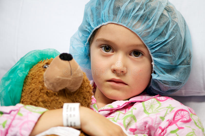 Bambino ammalato fotografia stock