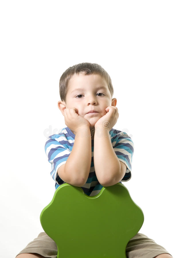 Bambino annoiato immagine stock libera da diritti
