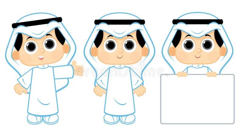 Bambino arabo illustrazione vettoriale