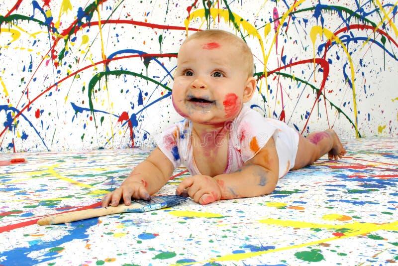 Bambino artistico fotografie stock libere da diritti