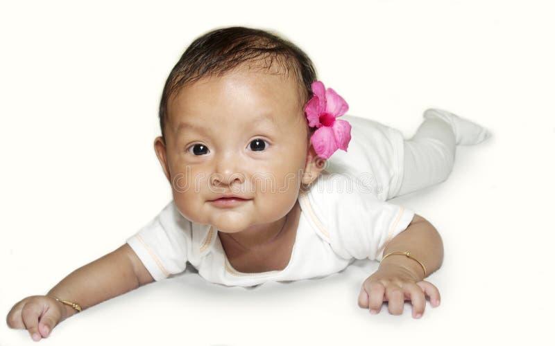 Bambino asiatico sorridente immagine stock