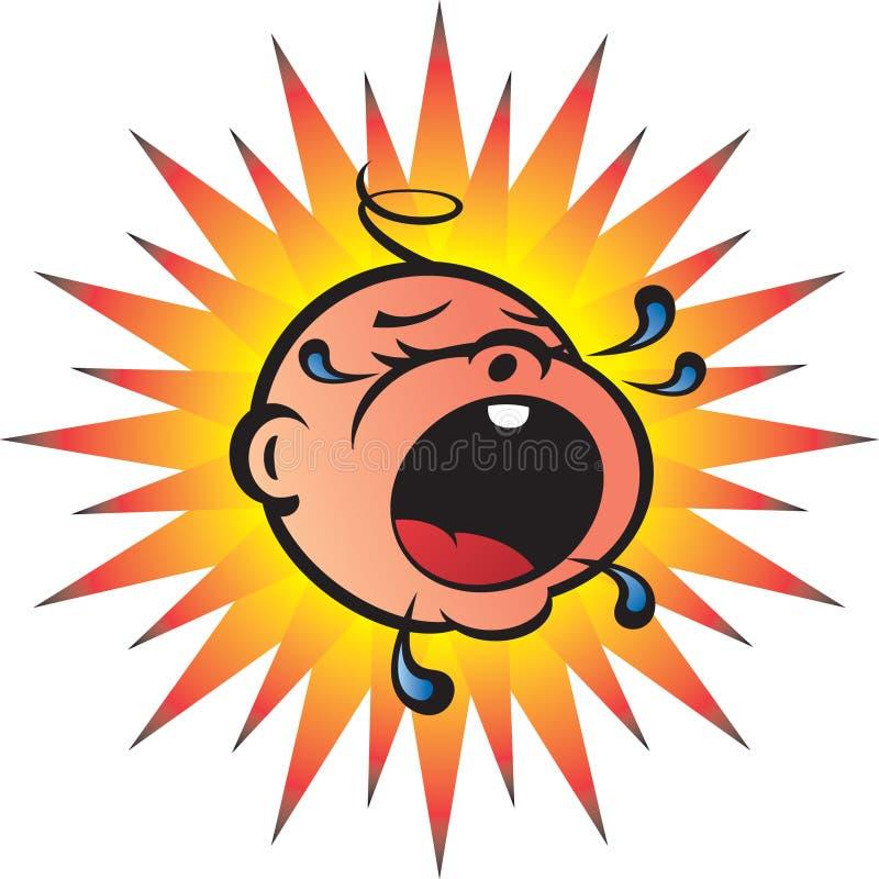 Bambino Bawling illustrazione vettoriale