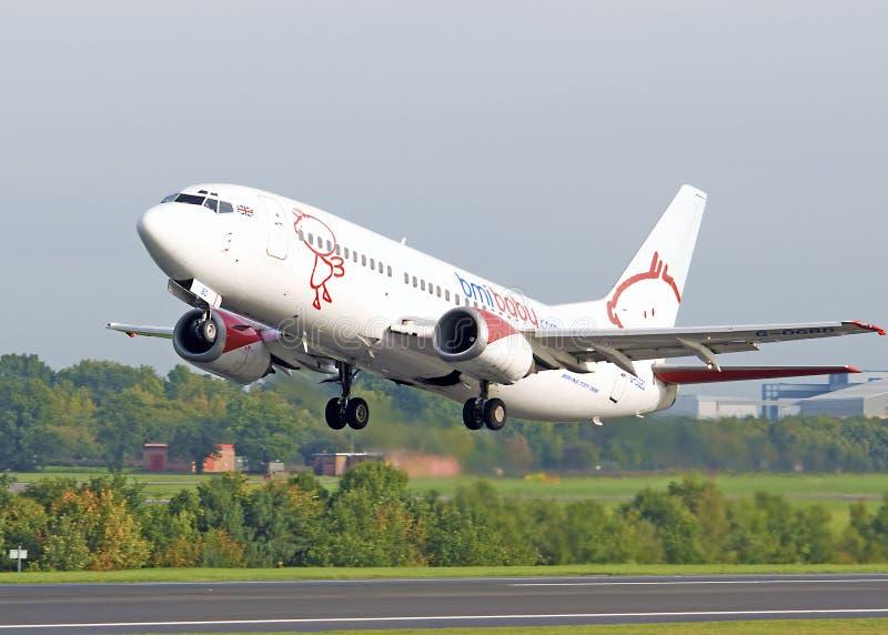 Bambino Boeing 737 di BMI fotografia stock libera da diritti