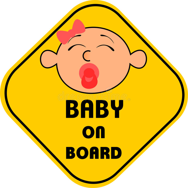 Bambino a bordo illustrazione vettoriale