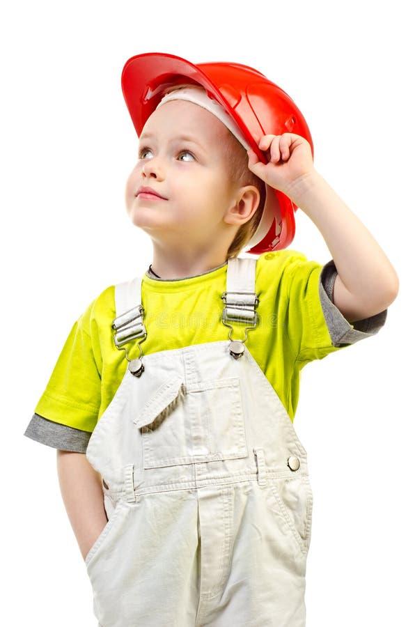 Bambino in casco immagini stock libere da diritti