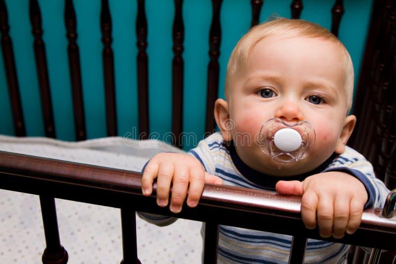 Bambino in castella fotografia stock