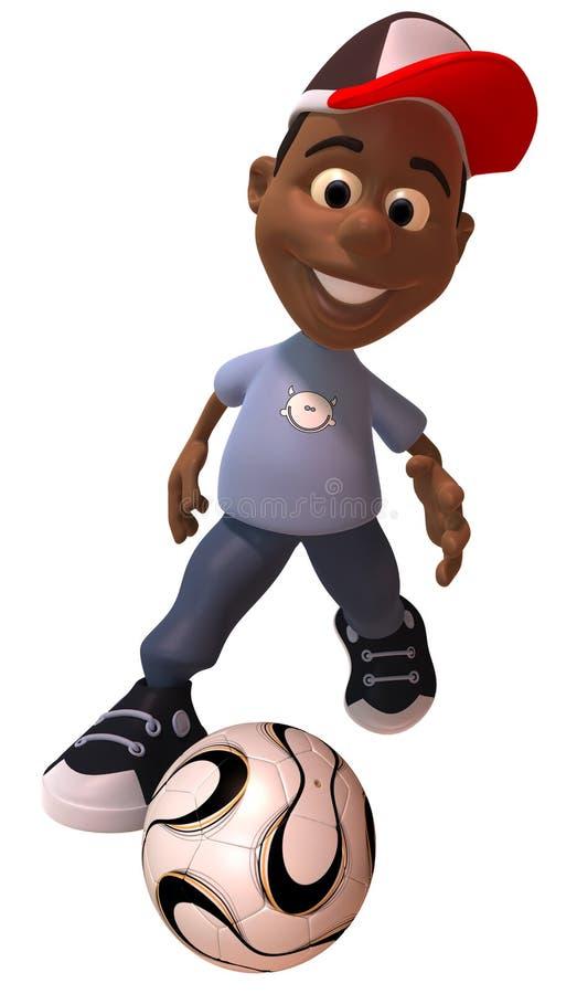 Bambino che gioca gioco del calcio royalty illustrazione gratis