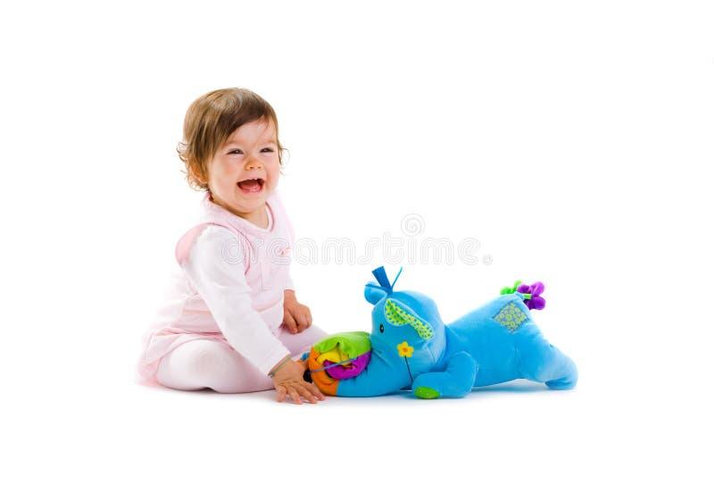 Bambino che gioca ritaglio immagine stock